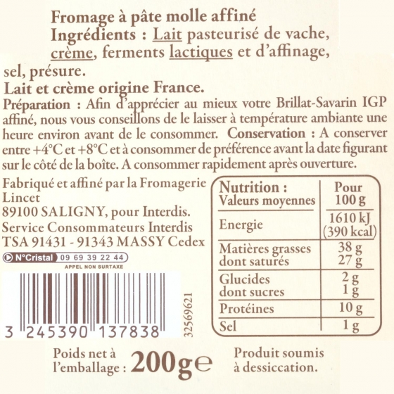 Queso brillan savarin tradición de leche cruda Briarde pieza 100 g - 3