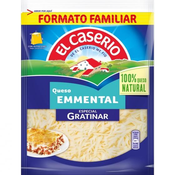 Queso rallado emmental especial gratinar El Caserío 150 g.