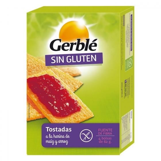 Tostadas de Maiz y Arroz Dietéticas Gerblé sin gluten  250 g.