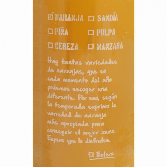 Zumo de naranja sin pulpa El Frutero botella 1 l. - 4