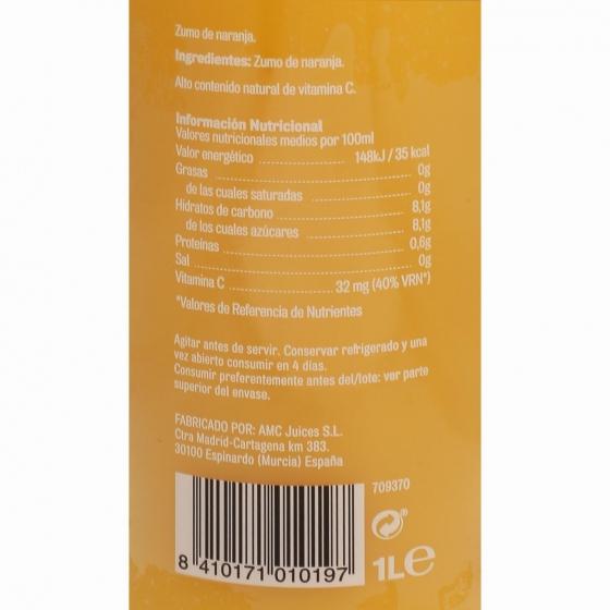 Zumo de naranja sin pulpa El Frutero botella 1 l. - 5