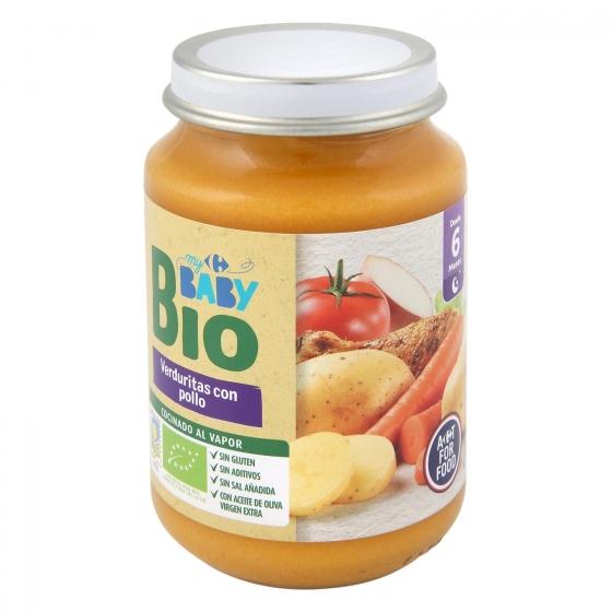 Tarrito de verduritas con pollo desde 6 meses ecológico Carrefour Baby Bio 200 g