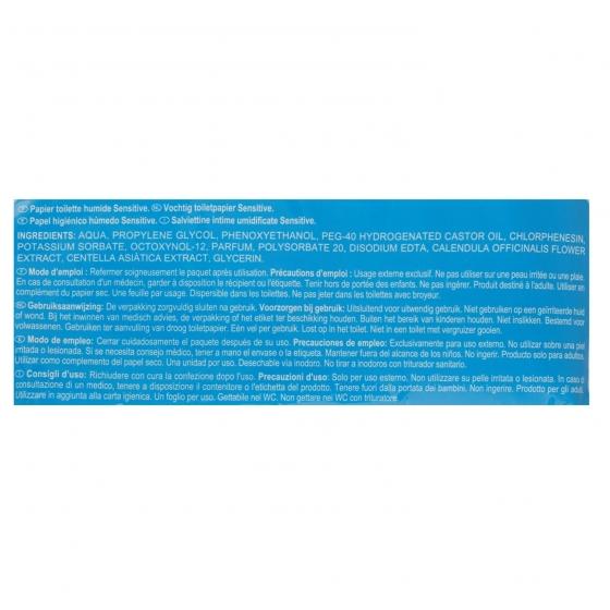 Papel higiénico húmedo sensitive Carrefour 70 ud. - 1