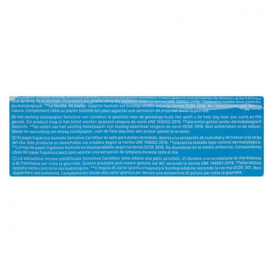 Papel higiénico húmedo sensitive Carrefour 70 ud. - 3