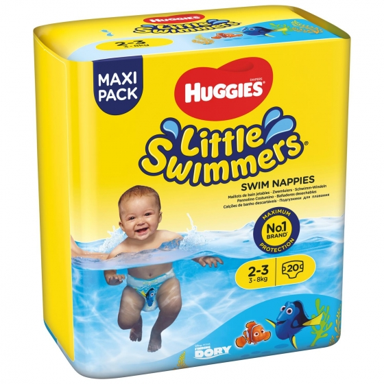 Bañador desechable Huggies® Little Swimmers (3-8 kg) 20 uds