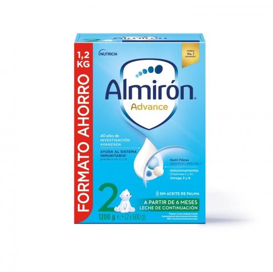 Leche infantil de continuación desde 6 meses en polvo con Pronutra+ Almirón Advance 2 caja 1200 g.