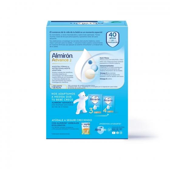 Leche infantil de continuación desde 6 meses en polvo con Pronutra+ Almirón Advance 2 caja 1200 g. - 1