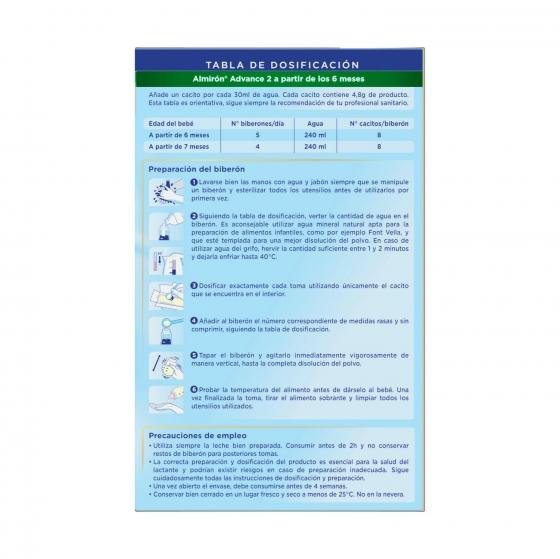 Leche infantil de continuación desde 6 meses en polvo con Pronutra+ Almirón Advance 2 caja 1200 g. - 4