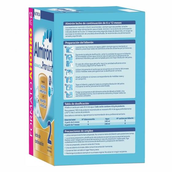 Leche infantil de continuación desde 6 meses en polvo con Pronutra+ Almirón Advance 2 caja 1200 g. - 5