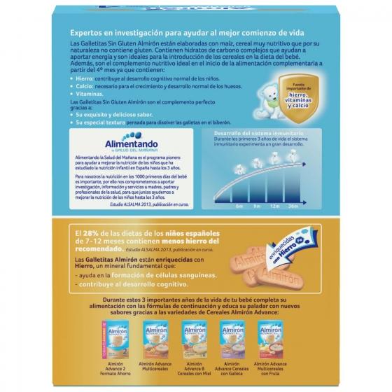 Galletas infantiles desde 4 meses Almirón sin gluten 250 g. - 3