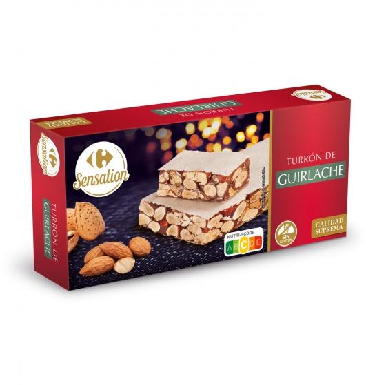 Turrón de guirlache Carrefour sin gluten 250 g.