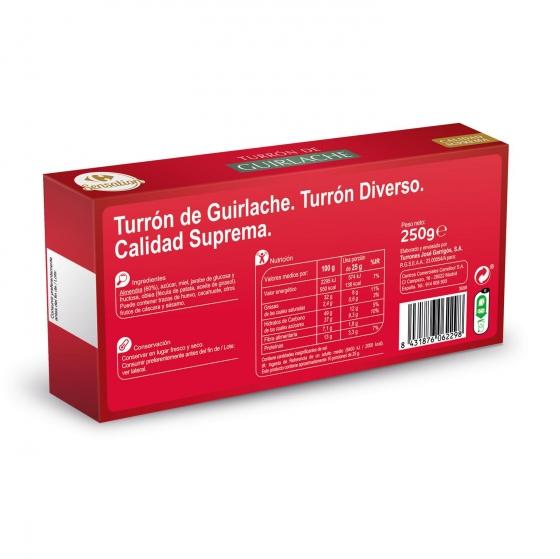 Turrón de guirlache Carrefour sin gluten 250 g. - 1