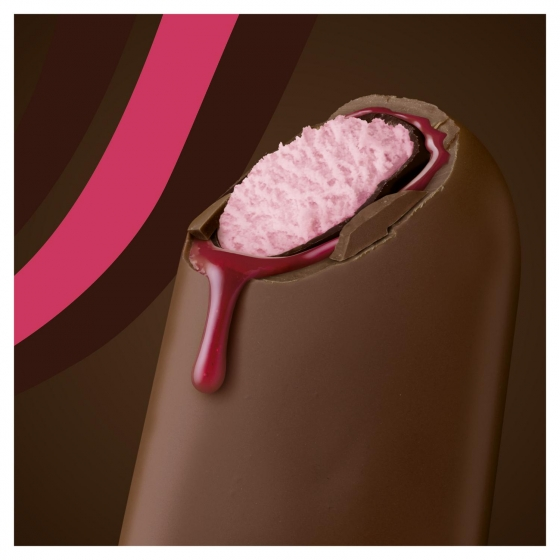 Bombón helado double con chocolate y salsa de fresa Magnum 3 ud. - 1
