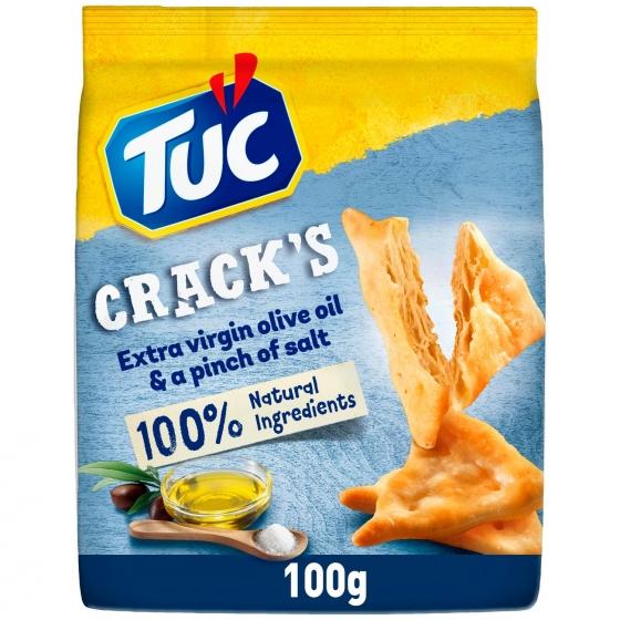 Crackers pizca de sal y aceite de oliva virgen extra Tuc 100 g.