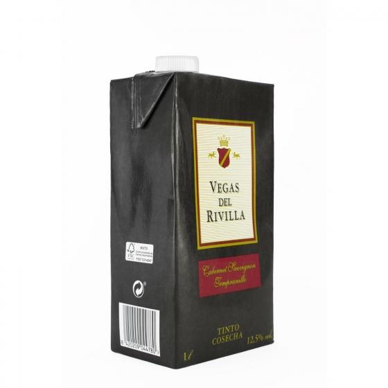 Vino de la Tierra de Extremadura tinto Vegas del Rivilla brik 1 l.