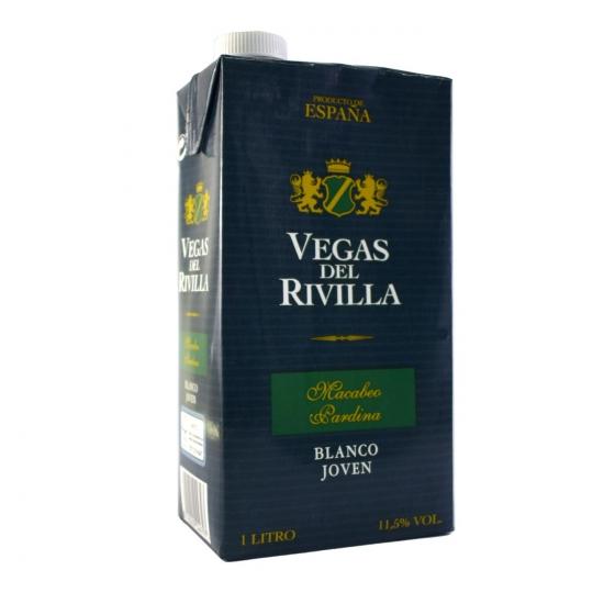 Vino de la Tierra de Extremadura blanco Vegas del Rivilla brik 1 l.