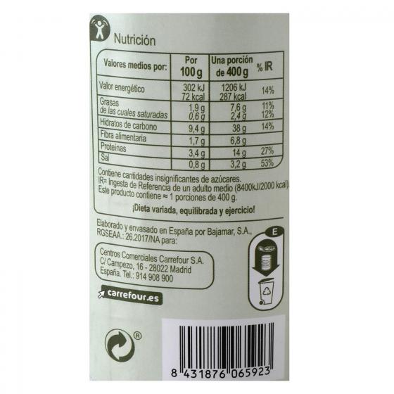 Lentejas con verduras con aceite de oliva Carrefour 400 g. - 1