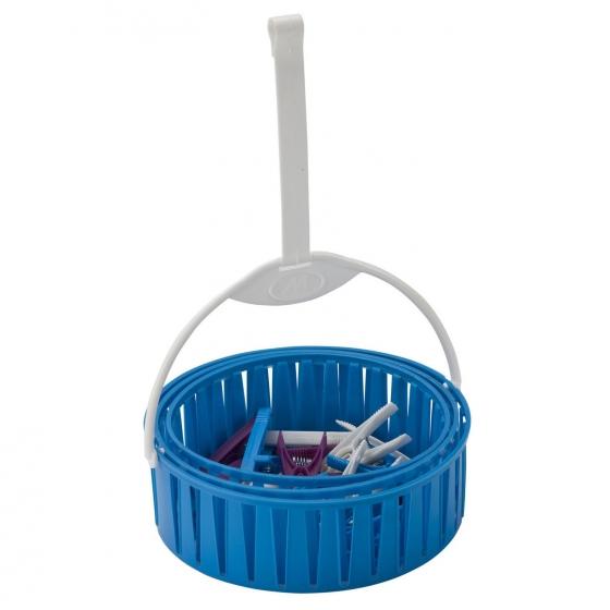 Cesto Extensible Plástico M-HOME - Azul - 1