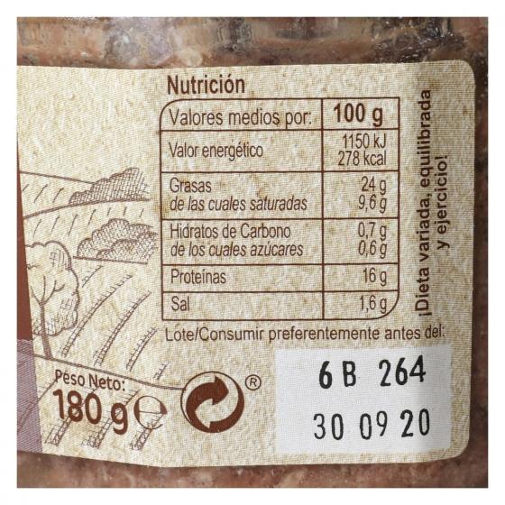 Paté de ciervo Carrefour 180 g. - 1