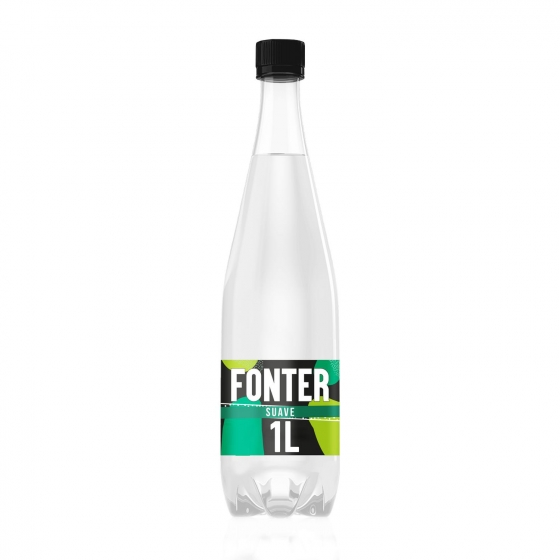 Agua mineral con gas Fonter  natural 1 l.