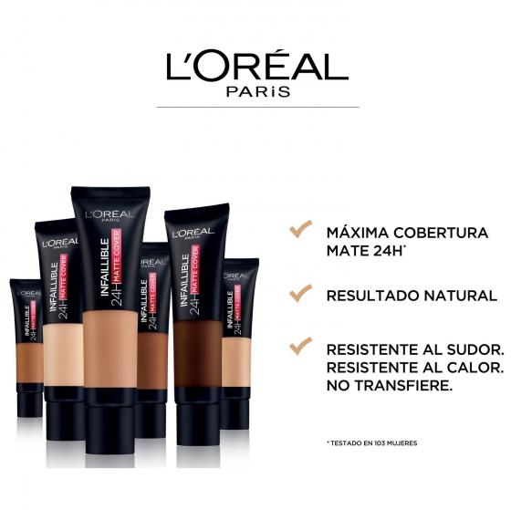 Base de maquillaje infalible matte cover 175 sand L'Oréal Perfection 1 ud. - 4