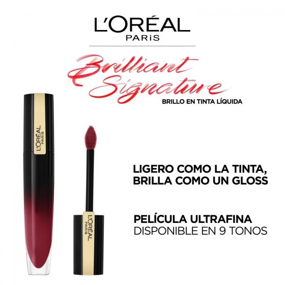 Barra de labios brilliant signature 305 be captivating L'Oréal Perfection 1 ud. - 5