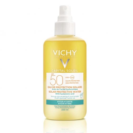 Spray agua solar hidratante SPF 50+ Capital Soleil Vichy 200 ml.