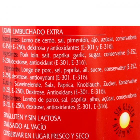 Caña de lomo curada raza Duroc La Hoguera pieza 800 g aprox - 3