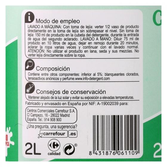 Lejía densoactiva perfume menta Carrefour 2 l. - 1