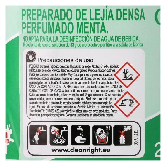 Lejía densoactiva perfume menta Carrefour 2 l. - 3