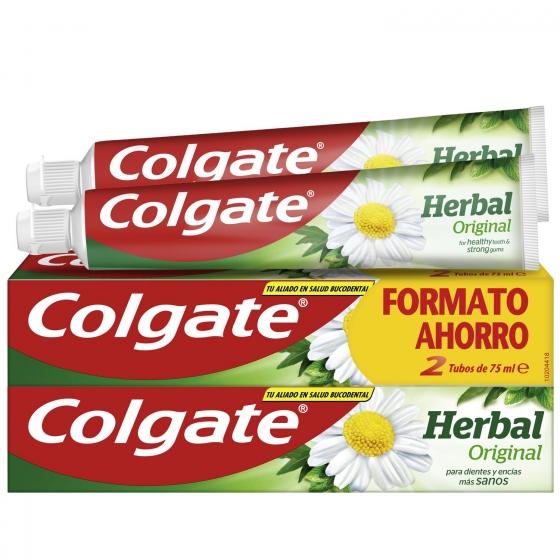 Dentífrico Herbal Tubo Duplo Colgate pack de 2 unidades de 75 ml.
