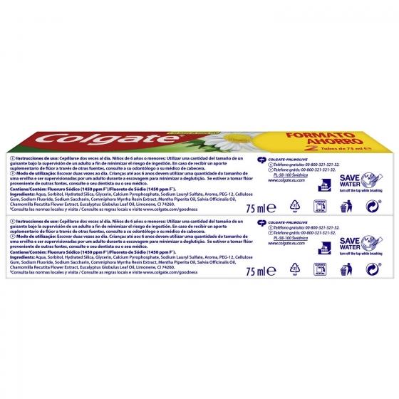 Dentífrico Herbal Tubo Duplo Colgate pack de 2 unidades de 75 ml. - 4