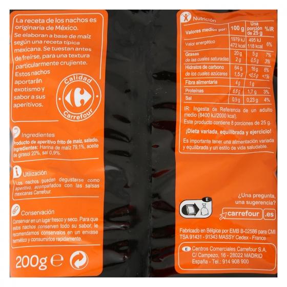 Nachos Carrefour 200 g. - 1