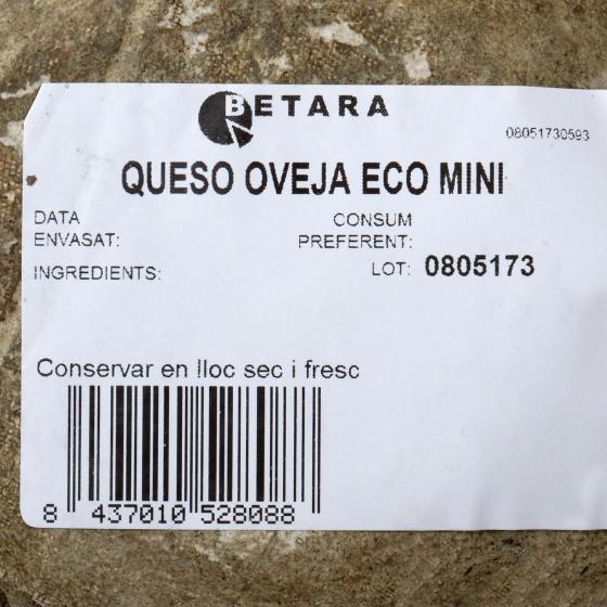 Queso semicurado de cabra ecológico Betara pieza 350 g aprox - 1