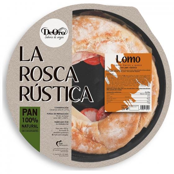 Rosca rustica de lomo con bacon y queso Deoro 480 g.