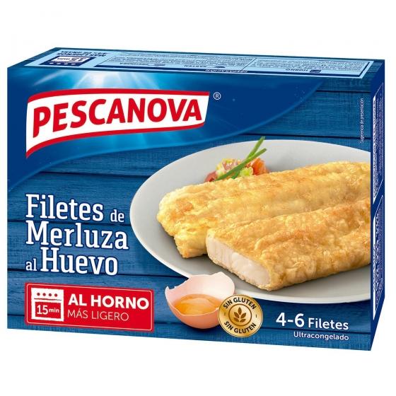 Filetes de merluza al huevo Pescanova sin gluten 400 g.