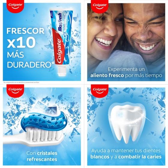 Dentífrico con cristales refrescantes Colgate Max Fresh pack de 2 unidades de 75 ml. - 1