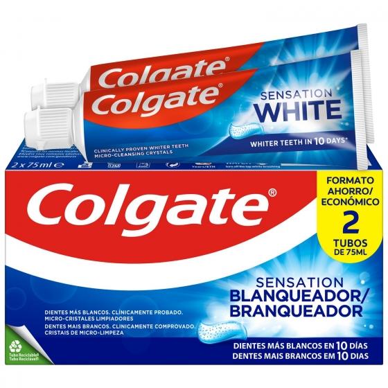 Dentífrico blanqueador Colgate Sensation pack de 2 unidades de 75 ml.