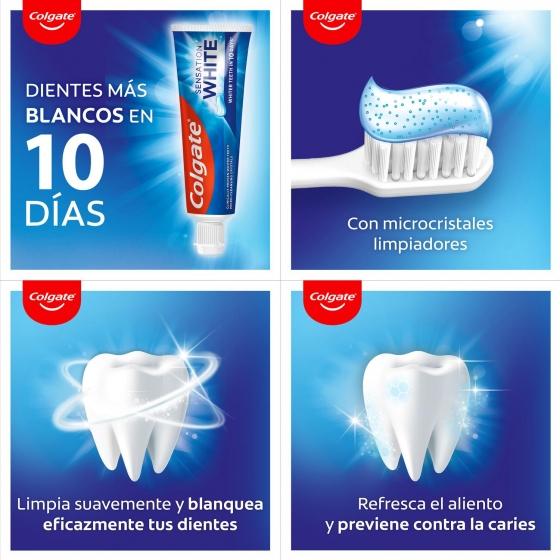 Dentífrico blanqueador Colgate Sensation pack de 2 unidades de 75 ml. - 5