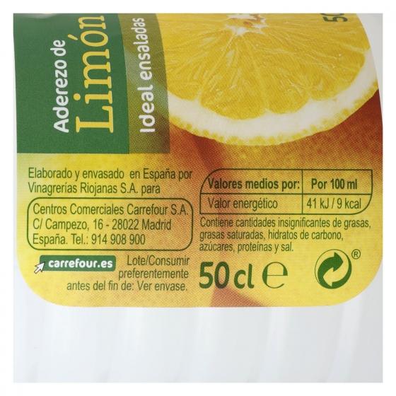 Aderezo de limón Carrefour 500 ml. - 1