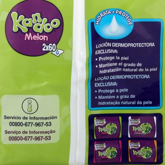 Toallitas WC para niños de +3 años Dodot-Kandoo 120 ud. - 1