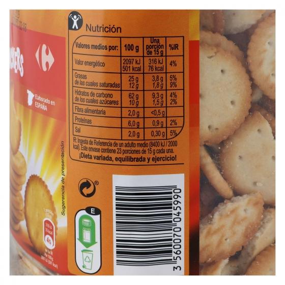 Galletas saladas Carrefour 350 g. - 3