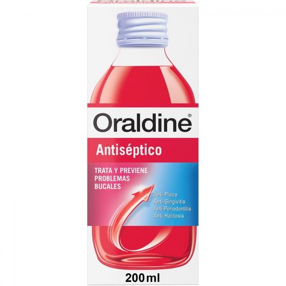 Enjuague bucal antiseptico Oraldine 200 ml.