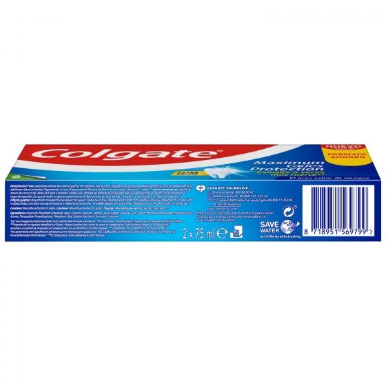 Dentífrico Protección Caries Tubo Duplo Colgate pack de 2 unidades de 75 ml. - 4