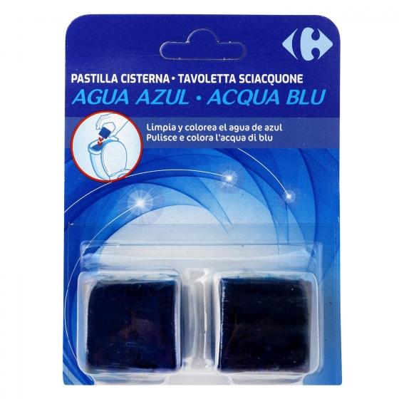 Desodorizante cisterna en pastilla agua Azul Carrefour 2 ud.