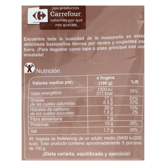 Finger de mozzarella Carrefour 400 g. - 1