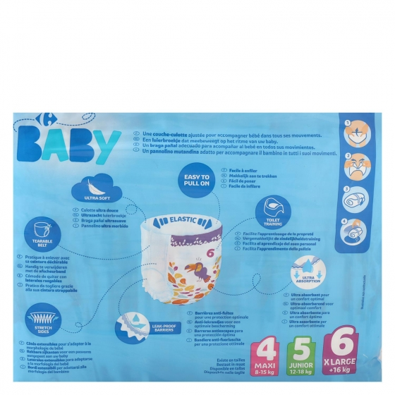 Pants Carrefour Baby T6 Extra large (16+ kg.) 36 ud. - 1