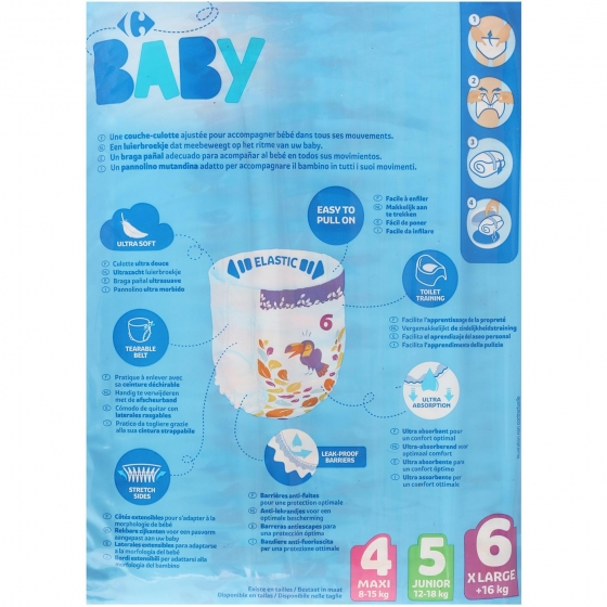 Pants Carrefour Baby T6 Extra large (16+ kg.) 36 ud. - 6