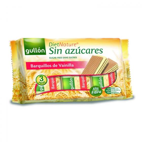 Galletas de barquillo rellenas de vainilla sin azúcar Diet Nature Gullón 210 g.