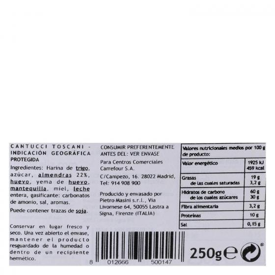 Cantucci (galletas de almendra) Terre d'Italia 250 g. - 1